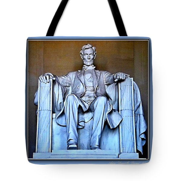 Luminous President Lincoln Tote Bag by Danielle  Parent