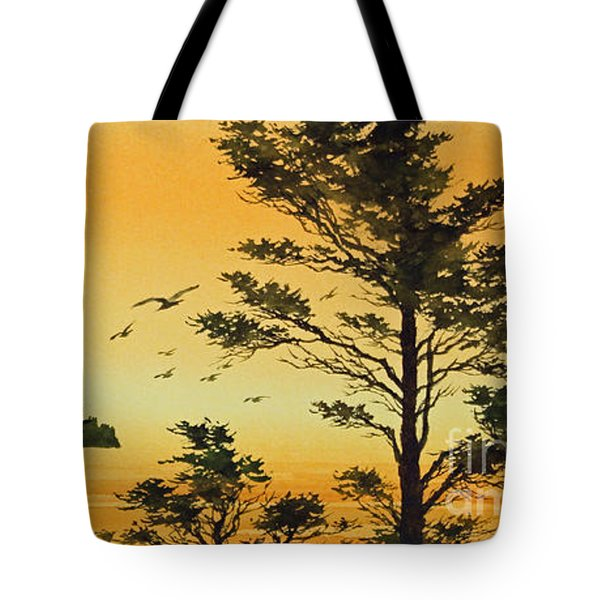 Luminous Sunset Tote Bag by James Williamson