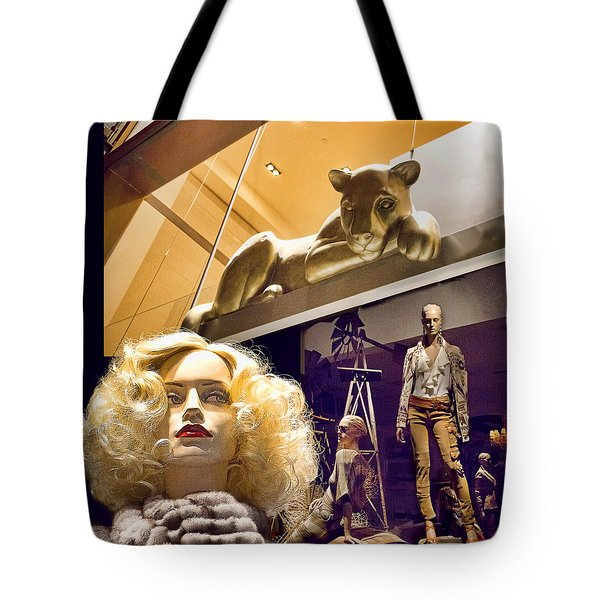 Luna Goes Shopping Tote Bag by Chuck Staley