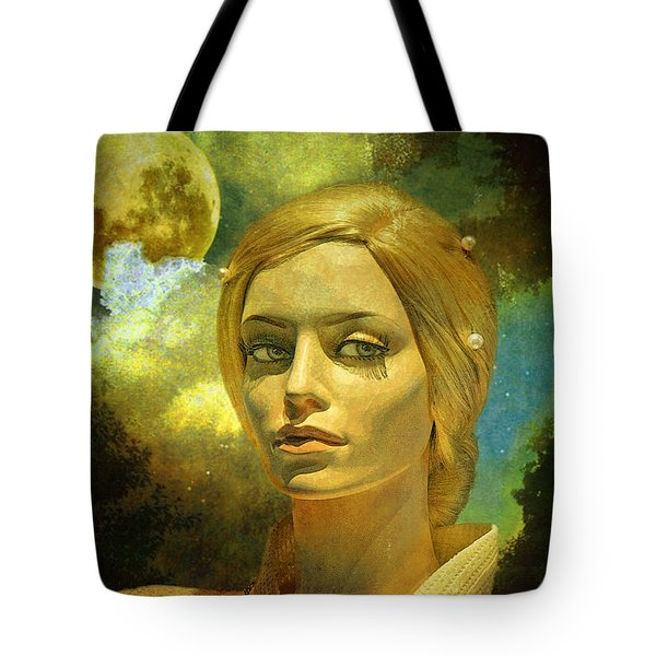 Luna in the Garden of Evil Tote Bag by Chuck Staley