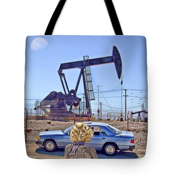 Luna Oil Tote Bag by Chuck Staley
