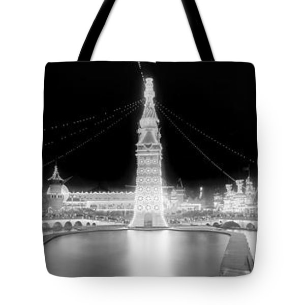 Luna Park At Night Coney Island Tote Bag by Georgia Fowler