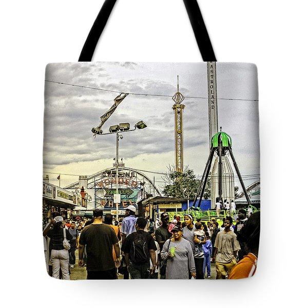 Luna Park - Coney Island - Bklyn - Ny Tote Bag by Madeline Ellis