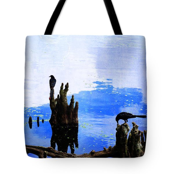Lunch Break - Crow Art By Sharon Cummings Tote Bag by Sharon Cummings
