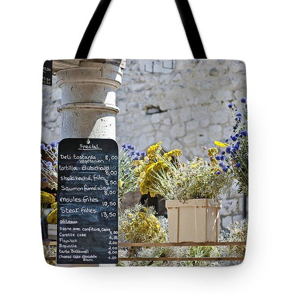 Lunch Time On Market Day Tote Bag by Georgia Fowler