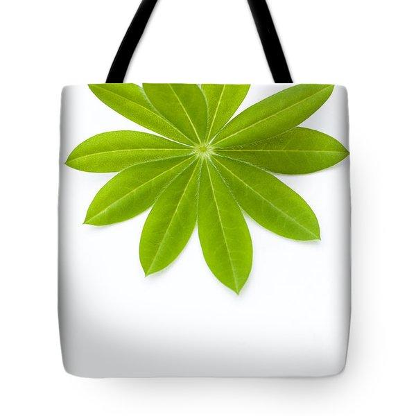 Lupin Leaf Tote Bag by Anne Gilbert