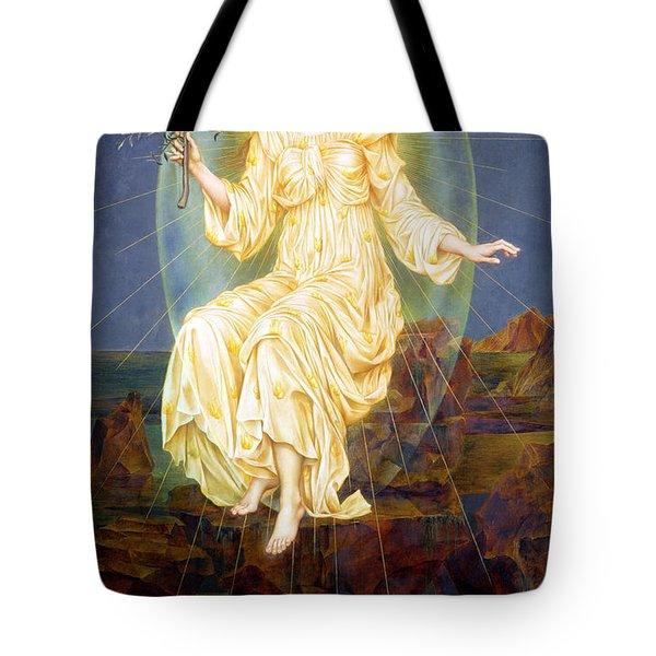 Lux In Tenebris Tote Bag by Evelyn De Morgan