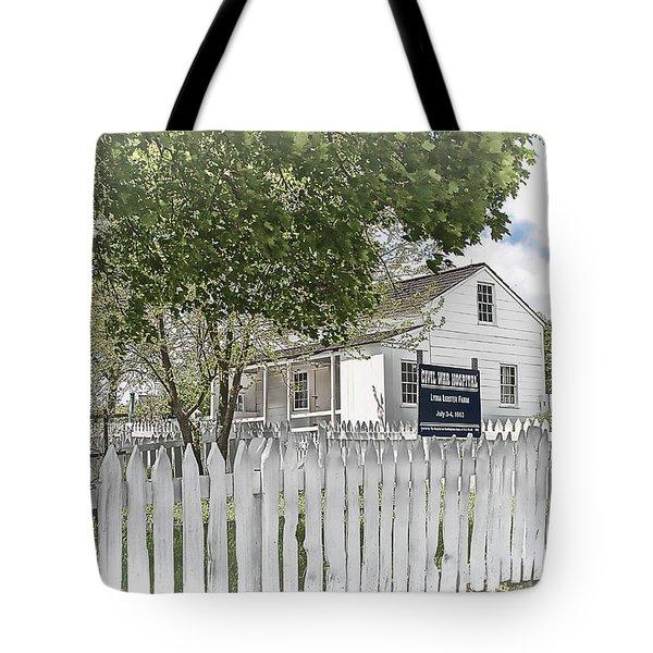 Lydia Leister Farm - Civil War Hospital Tote Bag by Dyle   Warren