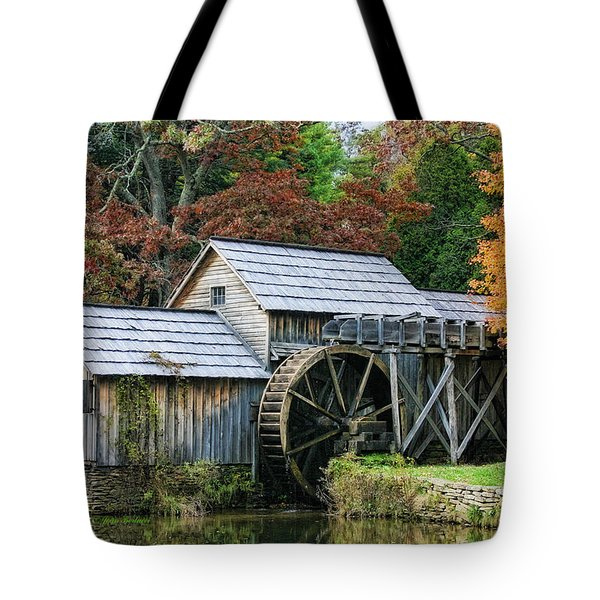 Mabry Mill II Tote Bag by Joan Bertucci