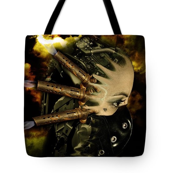 Machine Thoughts Tote Bag by Nathan Wright