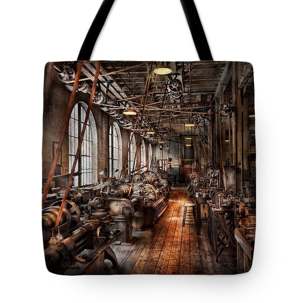 Machinist - A Fully Functioning Machine Shop  Tote Bag by Mike Savad