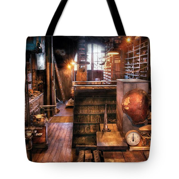 Machinist - Ed's Stock Room Tote Bag by Mike Savad