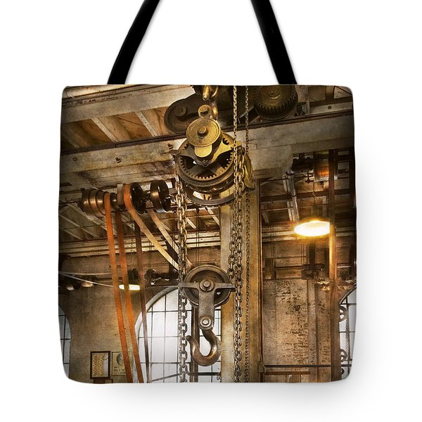 Machinist - In the age of industry Tote Bag by Mike Savad
