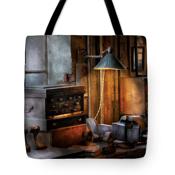 Machinist - My Workstation Tote Bag by Mike Savad
