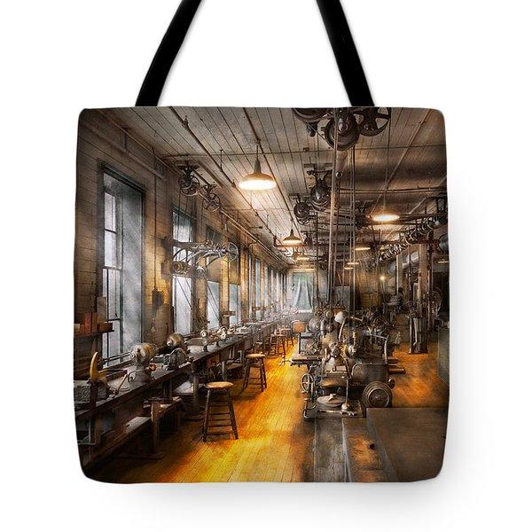 Machinist - Santa's old workshop Tote Bag by Mike Savad