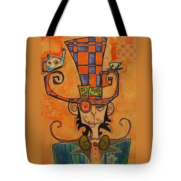 Mad Hatter Tote Bag by Ellen Henneke