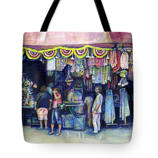 Mad Man Of Market And Main Singapore Tote Bag by Gaye Elise Beda