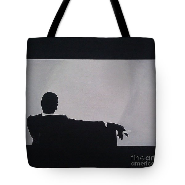 Mad Men in Silhouette Tote Bag by John Lyes