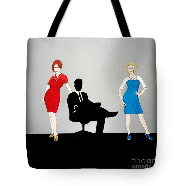 Mad Men In Technicolor Tote Bag by John Lyes