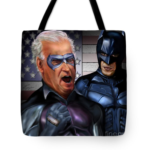 Mad Men Series 3 Of 6 - Obama And Biden Tote Bag by Reggie Duffie