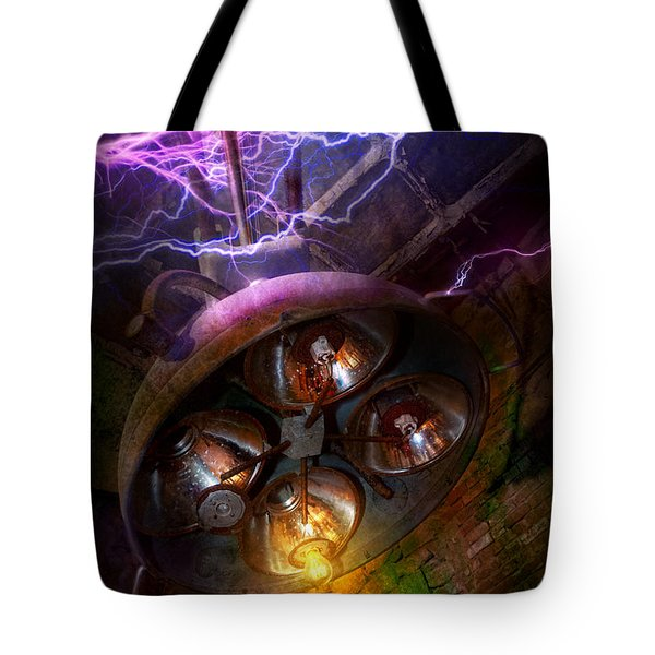 Mad Scientist - Your operation was a success Tote Bag by Mike Savad