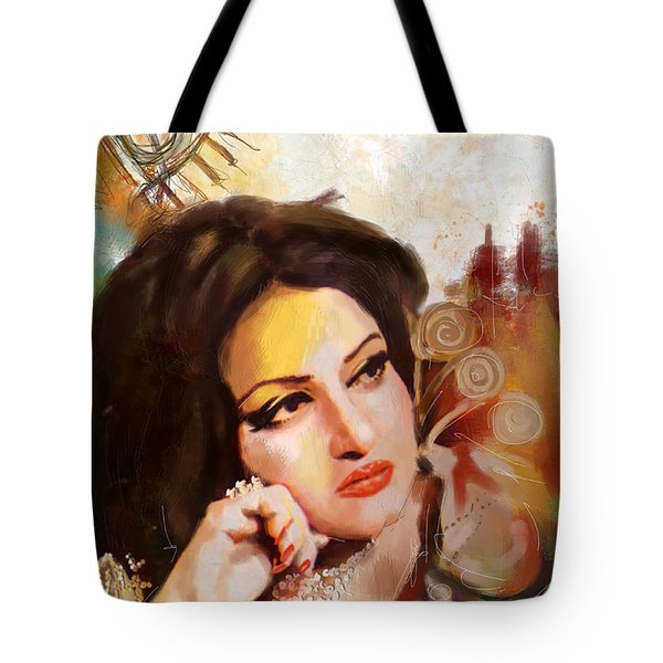 Madam Noor Jehan Tote Bag by Catf
