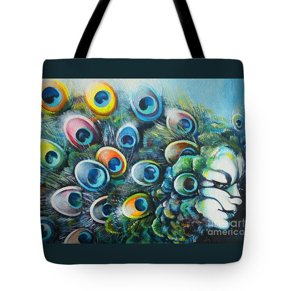 Madam Peacock Tote Bag by Alessandra Andrisani