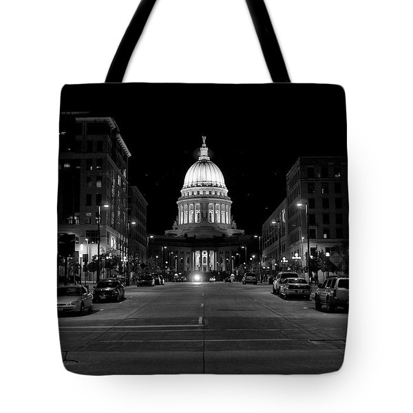 Madison Wi Capitol Dome Tote Bag by Trever Miller