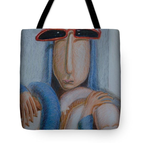 Madonna In Sunglasses Tote Bag by Nancy Mauerman