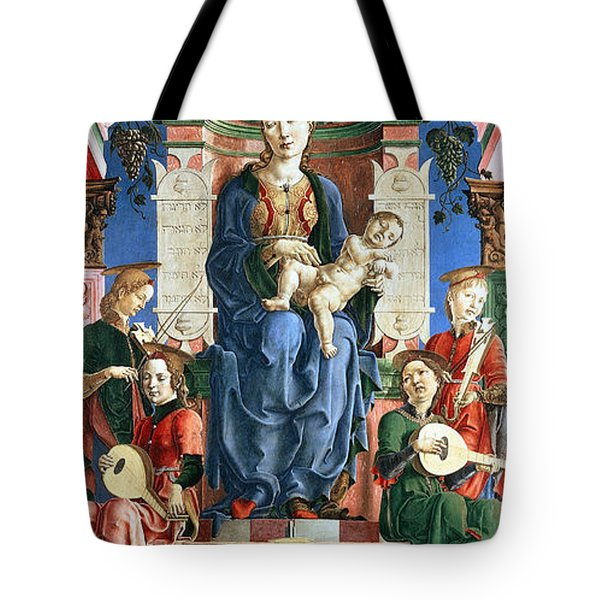 Madonna with the Child Enthroned  Tote Bag by Cosme Tura