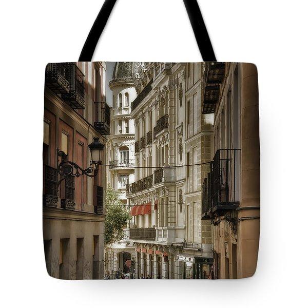 Madrid Streets Tote Bag by Joan Carroll