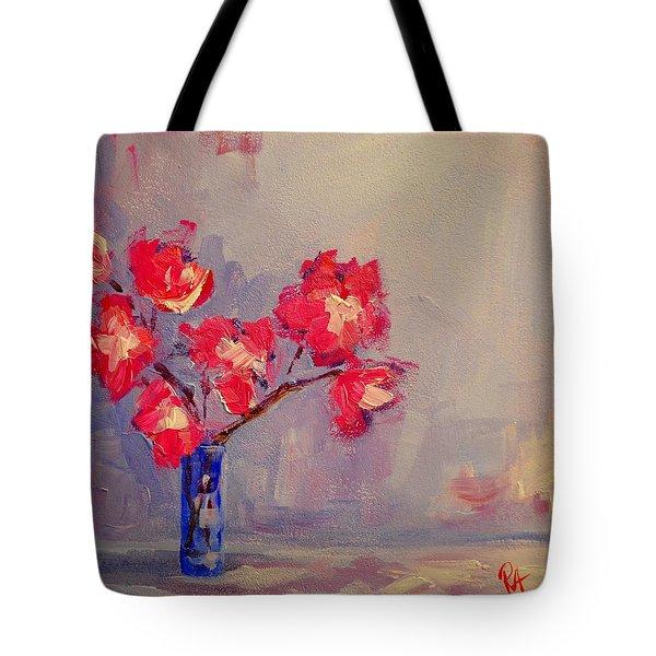 Magenta Flower Arrangement Tote Bag by Patricia Awapara