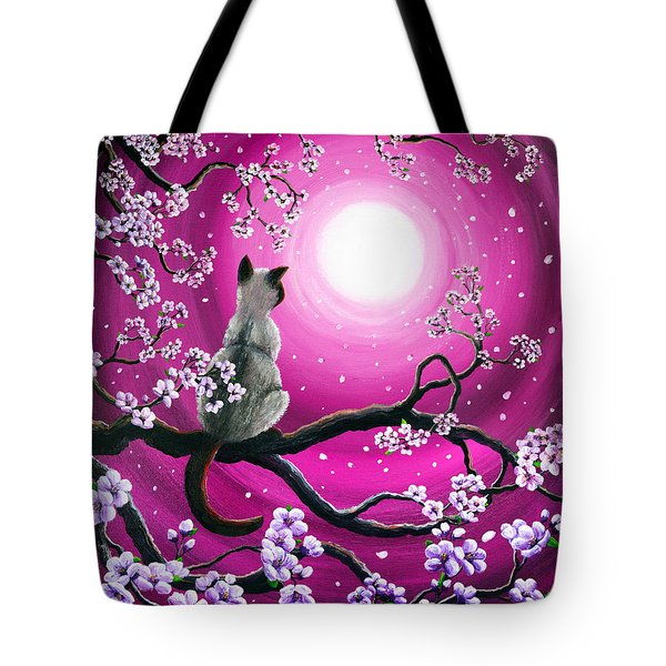 Magenta Morning Sakura Tote Bag by Laura Iverson