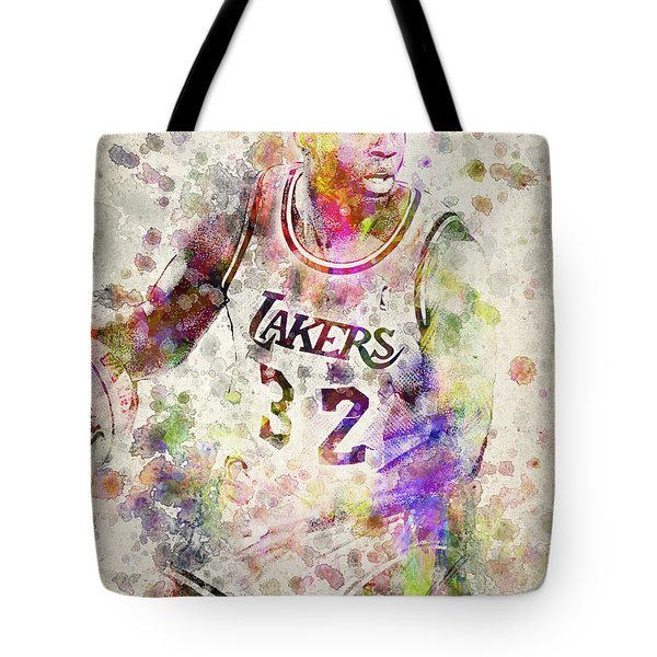 Magic Johnson Tote Bag by Aged Pixel