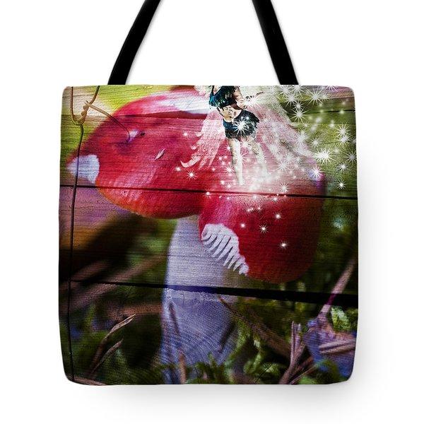 Magic Moshroom Fairy  Tote Bag by Nathan Wright
