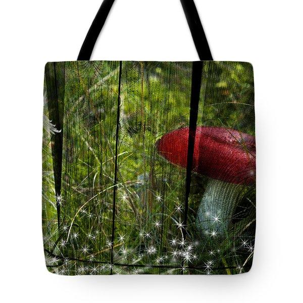 Magic Mushroom. Tote Bag by Nathan Wright