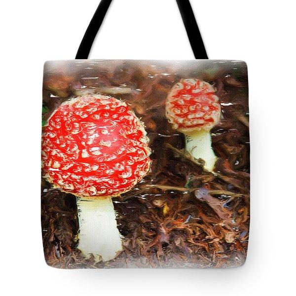 Magic Mushrooms Tote Bag by Ayse Deniz