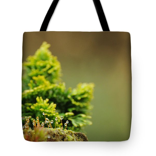 Magical World Of Green And Gold Tote Bag by Rebecca Sherman