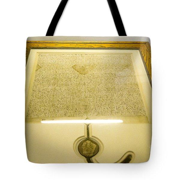 Magna Carta Tote Bag by Steven Ralser