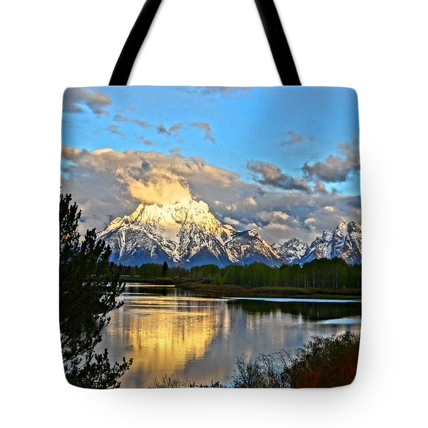 Magnificent Mountain Tote Bag by Dan Sproul