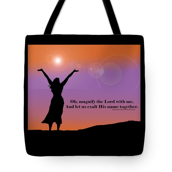 Magnify The Lord Tote Bag by Kate Farrant