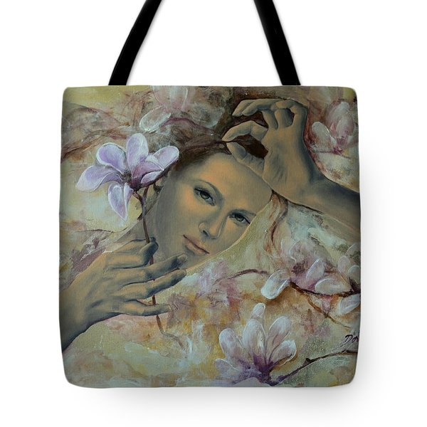 Magnolias Tote Bag by Dorina  Costras