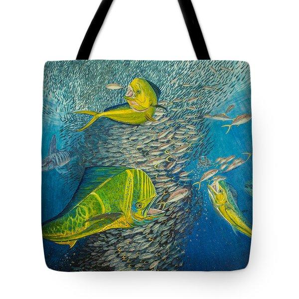 Mahi Mahi original oil painting 24x30in Tote Bag by Manuel Lopez