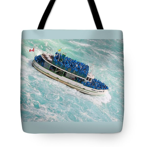 Maid Of The Mist At Niagara Falls Tote Bag by Ben and Raisa Gertsberg