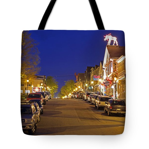 Main Street Bar Harbor Tote Bag by Juergen Roth