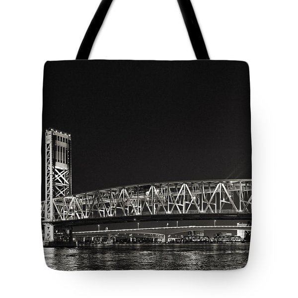 Main Street Bridge Jacksonville Florida Tote Bag by Christine Till