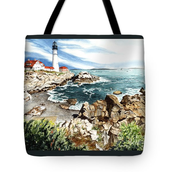 Maine Attraction Tote Bag by Barbara Jewell