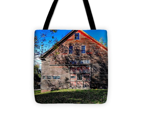 Maine Barn Tote Bag by Marcia L Jones