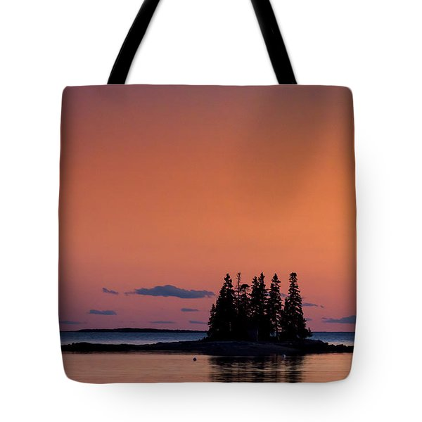 Maine Coastal Island Tote Bag by John Greim