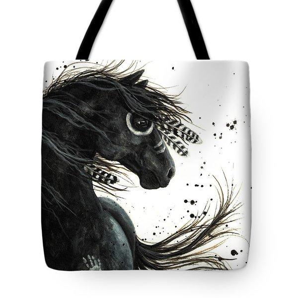 Majestic Friesian Tote Bag by AmyLyn Bihrle